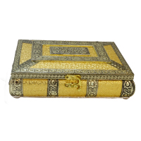 Wooden Dryfruit Box With Resin and Brass