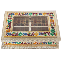 Quad compartment dry fruit box
