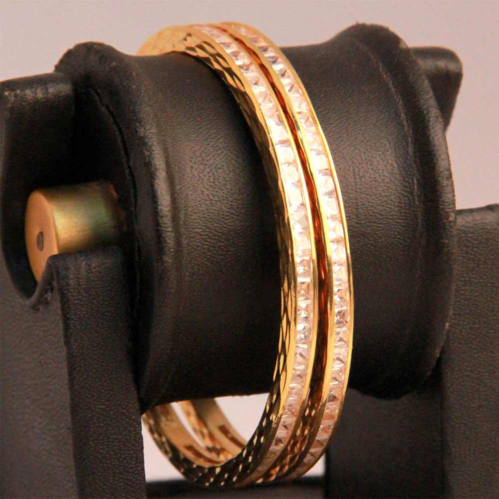 Traditional gold plated bangles