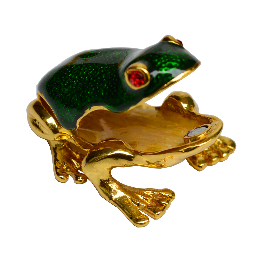 Vastu Friendly Decorative Frog Figurine in Metal