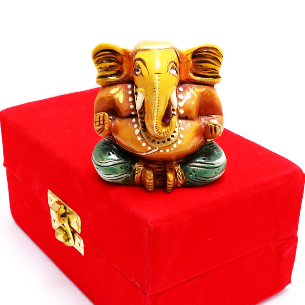 Wooden Ganesh Idol For Worshipping